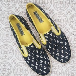 Sperry Anchor Print Slip On Sneakers Size 8.5